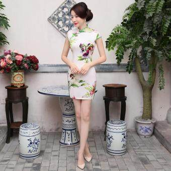 New Spring Fashion Improved Thin Women Dress Cheongsam - intl