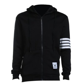 New Sweatshirt Leisure Men Hooded Casual Zipper Autumn Jacket Coat- intl