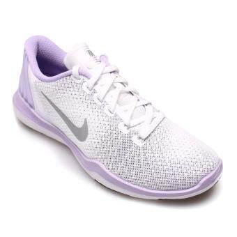 NIKE WOMEN รองเท้าผ้าใบ ผู้หญิง รุ่น FLEX SUPREME TR 5 - 852467101 (WHITE/METALLIC SILVER)