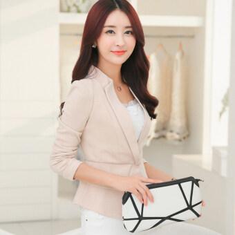 nofsimp 1507165070 55576794 2583a202feb4fd102d1709b079e52fa4 product ขายดีวันนี้ Nofsimp เกาหลีสลิมชุดย่อหน้าสั้นๆหญิงแจ็คเก็ต  สีเบจ