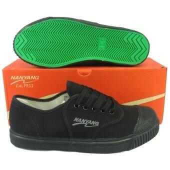 2561 รองเท้ากีฬา รองเท้าผ้าใบเด็ก นันยาง NYJ-10101 สีดำ