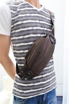 รีวิว กระเป๋าสะพายไหล่ผู้ชาย คาดอก คาดเอว ไนล่อน รุ่น ND300 - สีน้ำตาล