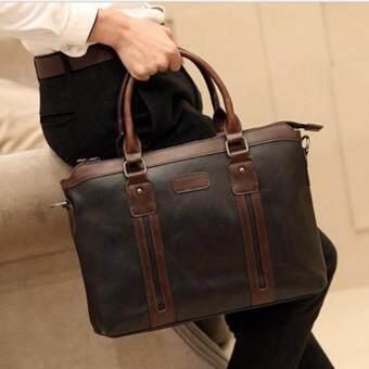 เสนอราคา กระเป๋าสะพายไหล่ผู้ชายหรือถือ รุ่น NE155 (สีดำ)
