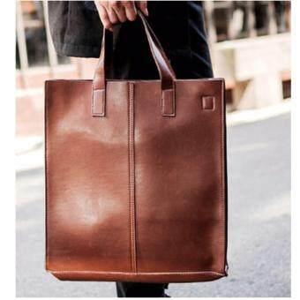 กระเป๋าสะพายไหล่ หรือถือ ทรงยาว รุ่น NE91 - Brown
