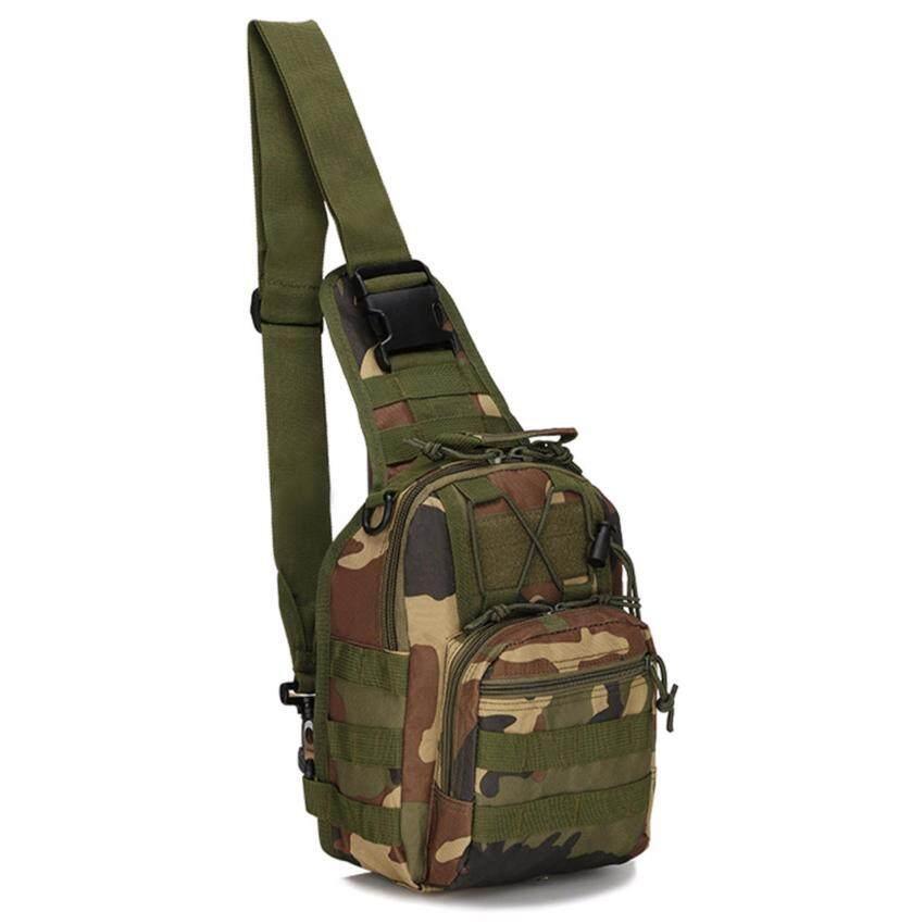 Otzi กระเป๋าทหาร กระเป๋าสะพายไหล่ สะพายข้าง คาดหน้าอก ลายพรางวู๊ดแลนด์