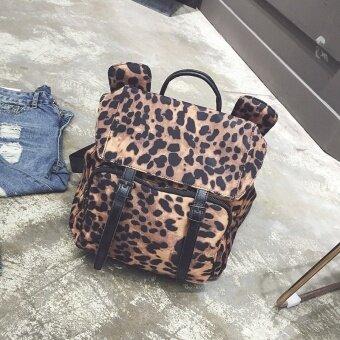 ยุโรปและอเมริกาเสือดาวกระเป๋าถือกระเป๋าสะพายผ้า Oxford (เสือดาว)