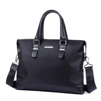 ธุรกิจข้ามส่วนผ้า Oxford ถุงบูติกถุงชาย (1827-2 สีดำที่จะส่งกระเป๋าสตางค์)