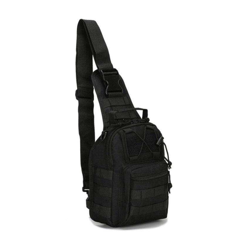 กระเป๋าสะพายข้าง คาดอก เอนกประสงค์ ผ้า Oxford 600D (สีดำ)