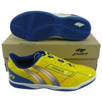รองเท้ากีฬา รองเท้าฟุตซอล PAN 14K7 FORCE 2 เหลืองน้ำเงิน