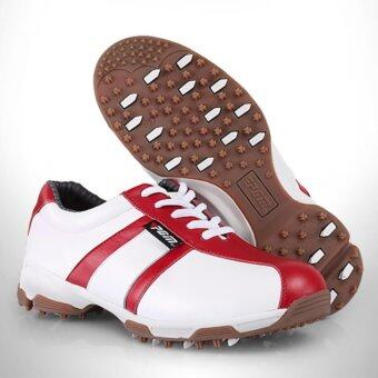 2561 PGM Women Golf Shoes WHITE-RED SIZE EU:35-EU:39 (XZ059)(EU:35)