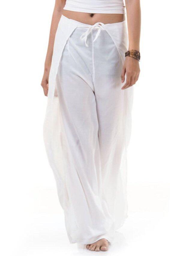 Princess of Asia กางเกงผ่าข้าง กางเกงแบบผูก กางเกงพัน (สีขาว)