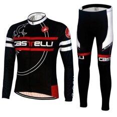 Pro Bike Clothing Men Long Sleeve Cycling Jersey Set - intl