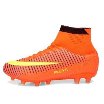 ฟุตบอลชายฟุตบอลอาชีพรองเท้ากีฬารองเท้าสูงรองเท้าตะปูซ้อมส้ม (image 2)