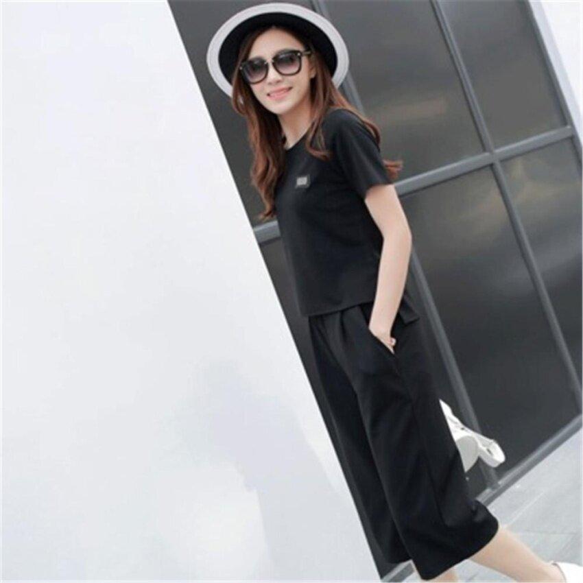 ชุดเดรสแฟชั่นเกาหลีชุดกางเกงขายาวผู้หญิง