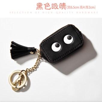 สี่เหลี่ยมเล็กๆเกาหลีหญิงมินิกระเป๋ากระเป๋าเหรียญ (สีดำตา)
