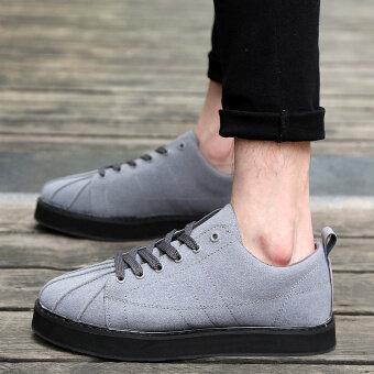 เปลือกหัวเกาหลีสีดำนักเรียนหนักต่ำสุดรองเท้าน้ำรองเท้า (สีเทา)