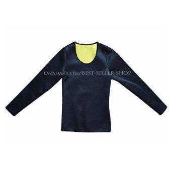 Purify เสื้อออกกำลังกาย เสื้อเรียกเหงื่อแขนยาว Neo Shapers Hot สีดำ