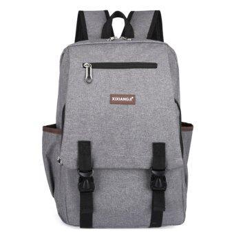 รีวิวพันทิป กระเป๋าสะพายหลัง กระเป๋าเป้เดินทาง กระเป๋าเป้ผู้ชายกระเป๋าโน๊ตบุ๊ค กระเป๋าเป้เท่ๆ -R1126 Grey