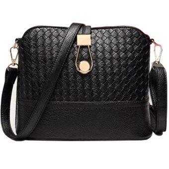 อยากขาย Women Bag กระเป๋าสะพายพาดลำตัว Cross-Body Bag 0016 (สีดำ)