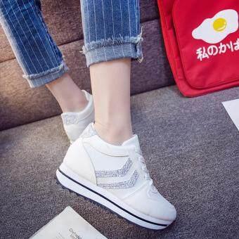 SABAI รองเท้าผ้าใบแฟชั้นผู้หญิงสไตล์เกาหลี A68 สีขาว - 2