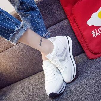 SABAI รองเท้าผ้าใบแฟชั้นผู้หญิงสไตล์เกาหลี A68 สีขาว - 5