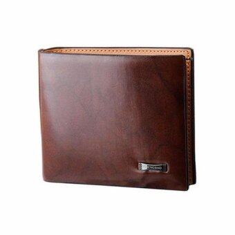 Shop Jung กระเป๋าสตางค์ Faux Leather bifold รุ่น 000217 (Coffee)