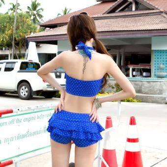 Siyikai หญิงแยกกระโปรงสไตล์นักมวยบิกินี่ชุดว่ายน้ำชุดชั้นใน (อัญมณีสีฟ้า)