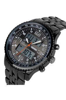 ... SKMEI 1032 Men's Sports Zinc Alloy Digital + Analog Wrist Watch Black Strap - 3