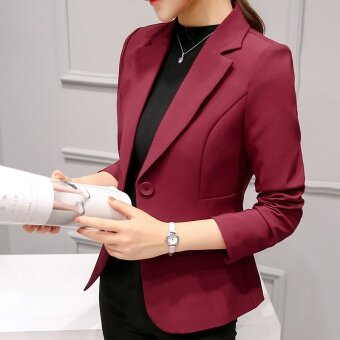 Small suit female 2017 new spring and autumn ladies casual wild suit long-sleeved Korean Slim was thin short jacket - intl