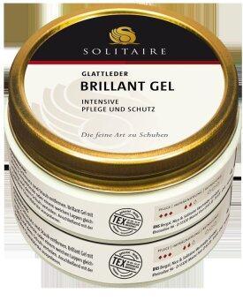 SOLITAIRE ผลิตภัณฑ์ดูแลหนัง โซลิแทร์ บริลเลี่ยน เจลบำรุงหนังรองเท้า ขนาด 100 มล.