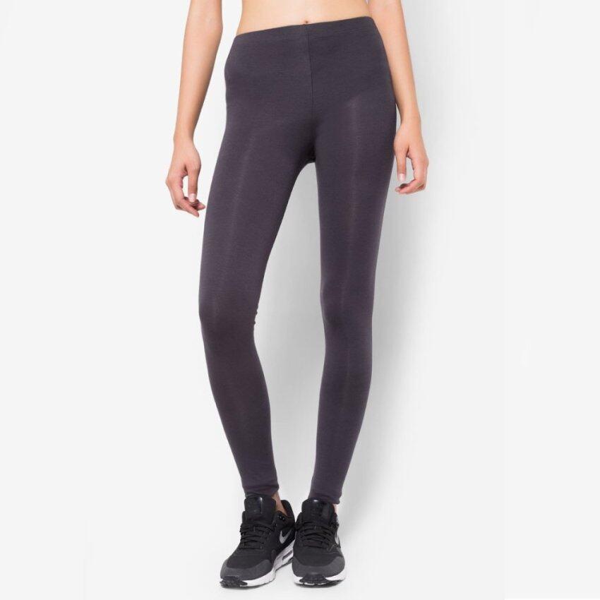 กางเกงเลกกิ้ง ขายาว เรียว สวย ผ้า Spandex Rayon แท้ สีเทา