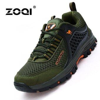 Harga Sports & Outdoors Men's Hiking Shoes Sport Shoes(Green) - intl
