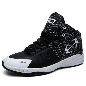 Harga Sports Shoes Basketball Shoes Men Outdoor sports shoes (black) -intl