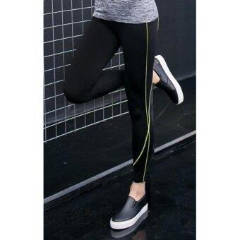 ประเทศไทย Star Pant กางเกงโยคะ กางเกงฟิตเนส ออกกำลังกาย กางเกงกระชับกล้ามเนื้อ ไซส์ใหญ่ (สีดำเขียว)