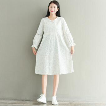 Suihua วรรณกรรมฤดูใบไม้ร่วงใหม่ปุ่มแผ่นชุด (สีขาว)