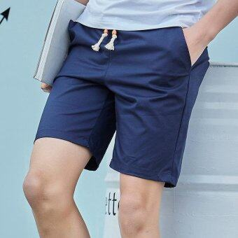 Harga Summer Men Sport Fashion Casual Shorts-Blue - intl