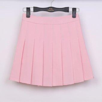 Summer New Women's College High Waist Self-cultivation PleatedSkirt Tennis Skirt - intl