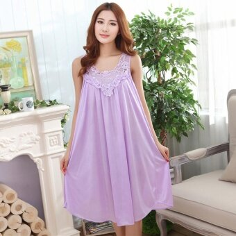 Harga Summer Women Loose Ice Silk Lace Hollow Out Plus Size Seven Colors- intl