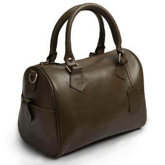 รีวิวพันทิป กระเป๋าสะพายหนัง กระเป๋าถือ กระเป๋าทรงสปีดี้ กระเป๋าสะพายพร้อมหูหิ้ว หนังแท้ หนังออยล์ Sun Lifestyle SL324-4 (สีเขียวมะกอก)