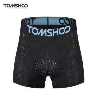 TOMSHOO Men's 3D Padded Bicycle Cycling Underwear BreathableLightweight Bike Riding Cycling Shorts Underpants - intl