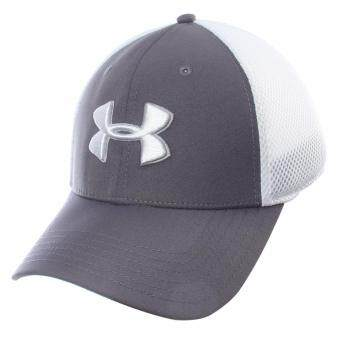 Under Armour หมวกกอล์ฟ Under Armour Men's Mesh Stretch 2.0 Golf Hat 1273280-040 (Graphite)