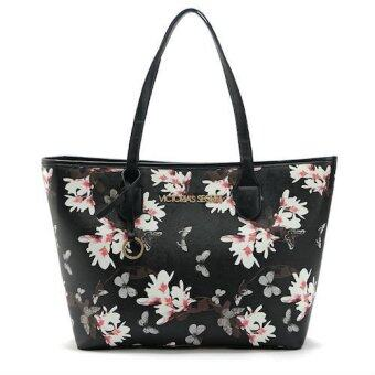 Harga Victorias Secret Flower Tote Bag (Black)