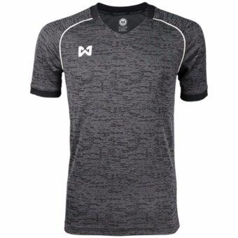 WARRIX SPORT เสื้อ WA-1547-EA (เทา-ดำ)
