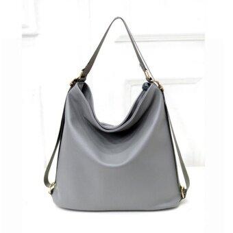 กระเป๋าถือwebbe สะพายเป็นเป้ได้ สีเทา.