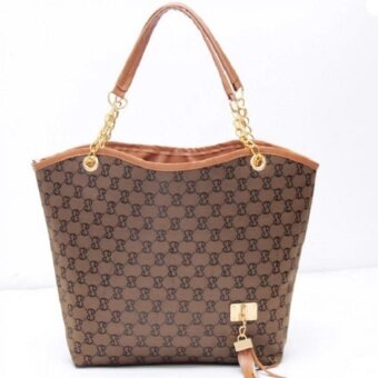 Women fashion handbags Europe and the United States big bag(brown)