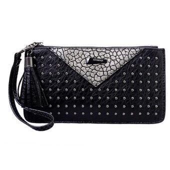 Women Wallet PU Leather Clutch Wallets Ladies Long Clutches Purse - intl