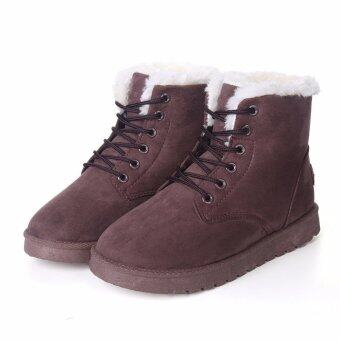 Harga Women Warm Ankle Boots Snow Winter Boots Keep Warm Velvet(Brown)intl