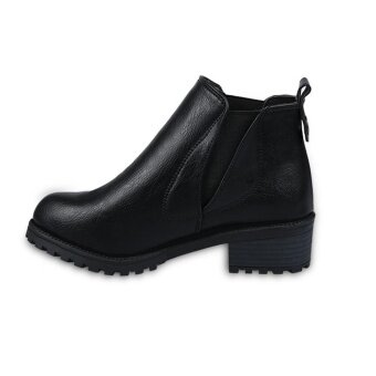 Women Winter Ankle Boots Low Heels Fashion Boots Autumn WinterBoots Shoes BK/35 - intl