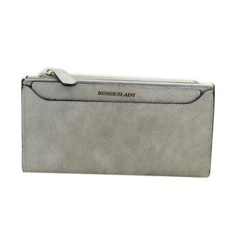 Women Zipper Long Purse Clutch Coin Wallet Card Holder GY - intl