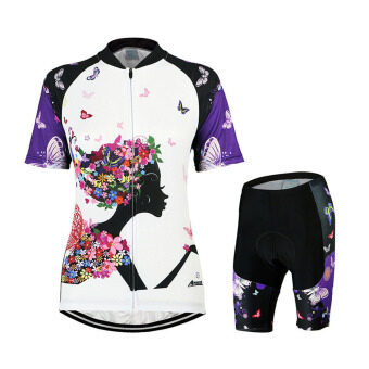 Women's Cycling Shirts Short Sleeve Biking Shorts Gel Silicone PadCycling Jersey Set Suits – ZSS334